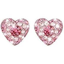 564e164a6648a0 Stroili - Orecchini cuore in argento 925 rodiato e cristalli per Donna -  Millennials