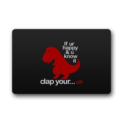 YOOSANG Funny Sad Red Dinosaur with Funny Quotes Non-Slip Doormat/Felpudo, Floor Mat Door Mat/Felpudo Rug Indoor/Front Door/Bedroom Mats 30(L) X 18(W) Inch