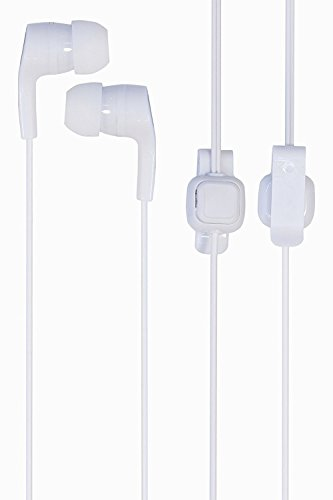 SUMMER SALE ! Metal Dot Bang 3.5mm Earphone with MIC, Clip Type One touch Button Compatible Samsung OnePlus Lenovo Xiaomi Motorola Asus Honor Intex Oppo Cool pad Gionee HTC Vivo Micromax data wind LeEco Lava LYF Spice Blackberry Infocus Mobile Power banks Mp3 Players Android Mobile Phone / Apple IPhone, IPad, IPod, windows series Mobile phones, Tablets, MP3 Players 7 Colours - EZ170-White  available at amazon for Rs.200