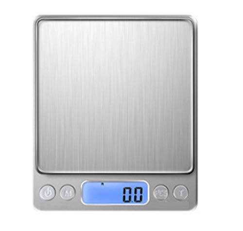 Treslin Elektronische Küchenwaage, Backen und Backen, Küchentaschenwaage, elektronische LED-Waage, USB @ English 1kg / 0.1g