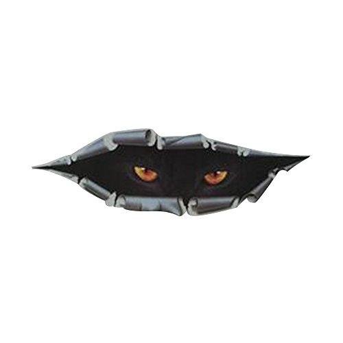 Auto-Aufkleber Wasserdicht Herausnehmbar Lustige Spähen Simulation Monster Auto-Zubehör Größe 11*43cm ()