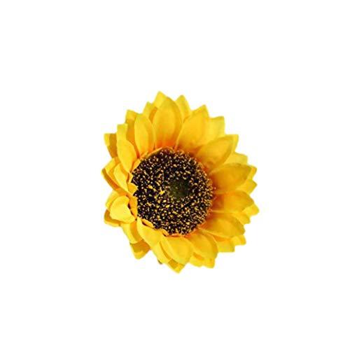 (Tagether künstliche Sonnenblume Blume Köpfe Bouquet Floral Garten Home Decor Blumen Bunch Echt aussehende gefälschte Rosen für Hochzeit Brautjungfer Brautstrauß Hotel Party Dekorationen(B))