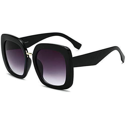 ZHAS High-End-Brille Übergroße quadratische Rahmen Frauen Sonnenbrille Vintage Design Lady Sonnenbrille Retro Eyewear Uv400 Shades Personalisierte High-End-Sonnenbrille - End-rahmen