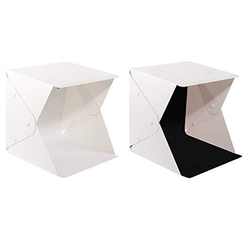HWAMART ™ MiniLEDbox Photo Studio Tent Mini Photographie Light Box LED Portable Mini Studio Photo Fixe Studio Tent Studio Light Box 22.6 x 23 x24cm
