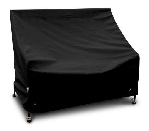 KoverRoos Weathermax 77351 Highback Loveseat/Sofa Cover, 49-Inch Width by 34-Inch Diameter by 40-Inch Height, Black