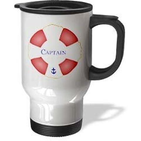 statuear Capitán Lifesaver 14-ounce de acero inoxidable taza de viaje