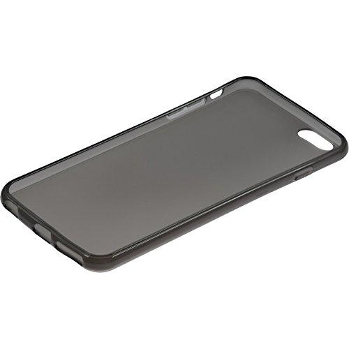 PhoneNatic Case für Apple iPhone 6 Plus / 6s Plus Hülle Silikon schwarz transparent Cover iPhone 6 Plus / 6s Plus Tasche + 2 Schutzfolien Schwarz