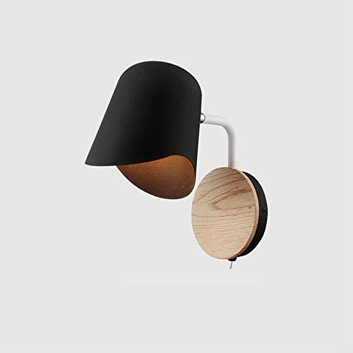 Wandlampe nachttischlampe schlafzimmer moderne minimalistische wohnzimmer gang spiegel scheinwerfer kinderzimmer lesung macarons nordischen wand (Farbe : Weiß)