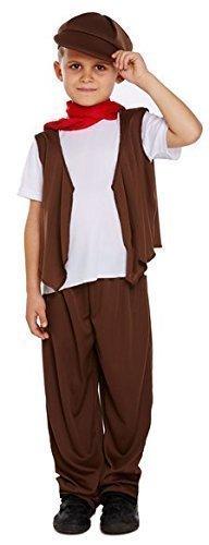 Fancy Me Jungen 5 Stück Arme Viktorianisch Schornsteinfeger Kostüm Kleid Outfit 4-12 Jahre - Braun, 7-9 Years (Armee Jungen Kostüm)