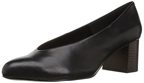 Bella Vita Women's Jensen Dress Pump, Black Leather, 6 N US -