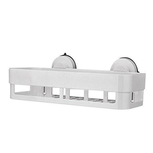 LCLrute 1 x Quick Plastik Küche Badezimmer Duschablage Lagerung Saugkorb Caddy Rack (Weiß) (Regal Stein Ecke Dusche)