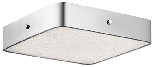 Square Flush Mount (Elan Lighting Crystal Moon Square LED Flush Mount in Chrome by ELAN)