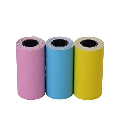 Leslaur Etiqueta adhesiva color imprimible Rollo papel