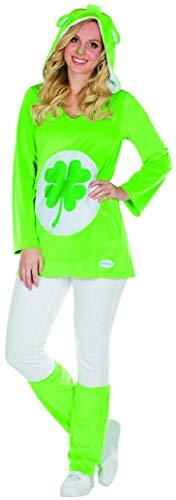 Zubehör Glücksbärchi Kostüm - Rubie's Glücksbärchi Kostüm Kleeblatt Größe M Damen grün Karneval Bär
