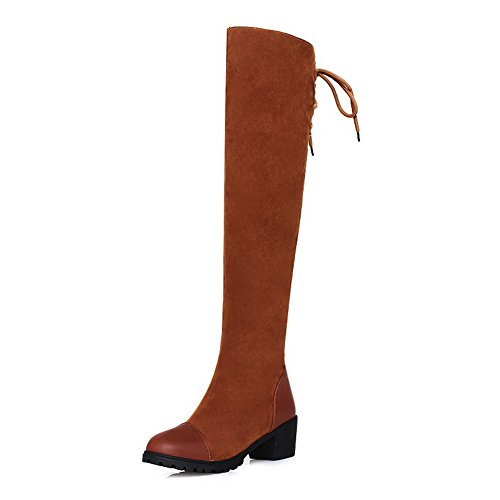AdeeSu , Chaussons montants femme Marron