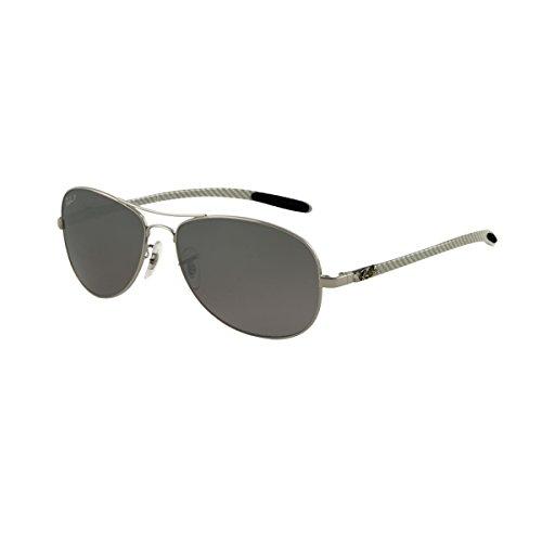 Ray-Ban Herren Sonnenbrille 8301 SOLE004/N8, Gr. 59 mm, Grau