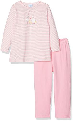 Sanetta Baby-Mädchen Zweiteiliger Schlafanzug Pyjama Long Rosa (scampi 3950) 74