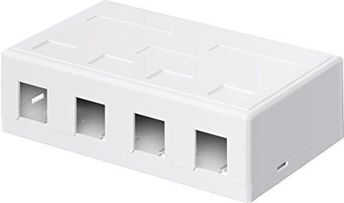 Keystone Leergehäuse 4-port; Keystone Leergehäuse 4-port - mit einfacher Snap-In Montage - 4-port-snap