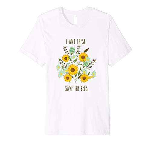 863780ccac338 Plant These Save the Bees T-shirt Vintage Botanical Flower