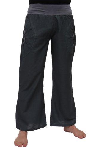 Baumwoll Yoga Hose mit Stretch-Bund und zwei praktischen Taschen Test