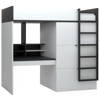 Hochbett Etagenbett MULTI Black&White schwarz-weiß