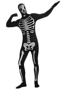 Rubbies - Disfraz de esqueleto para hombre, talla L (880514L)