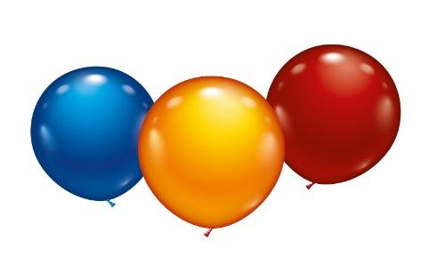 Karaloon 10015 - 3 Maxi-Ballons 45 cm, Sortiert