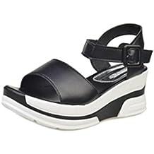a65a7d149a1 Culater® sandalias mujer plataforma de verano Zapatos bajos Zapatillas