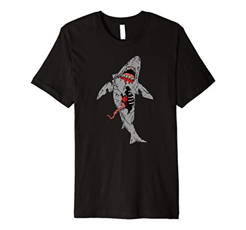 Scary Horror Halloween Shark Zombie Kreatur Death TShirt