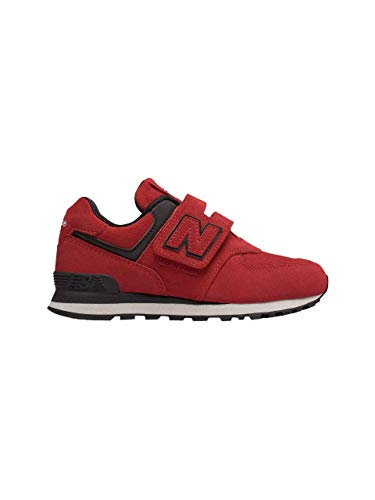 Sneaker New Balance in Camoscio con Rifiniture in Pelle Strap Logato e para in Gomma Bicolore YV-574