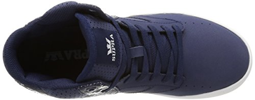 Supra  KHAN, Baskets hautes mixte adulte Bleu (Navy/White)