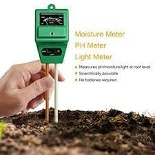 MOHAK Soil Moisture Light Inspect Acidity Meter Ph Tester 3 In 1 Soil Thermometer For Plant Health Garden Accessories Thermometer