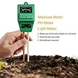 #7: MOHAK Soil Moisture Light Inspect Acidity Meter Ph Tester 3 In 1 Soil Thermometer For Plant Health Garden Accessories Thermometer