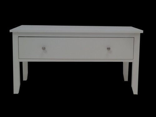 Henley White Coffee Table With Drawer