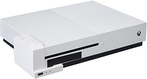 AmazonBasics - Ladegerät für Controller-Akkus (für die Xbox One S), Weiß