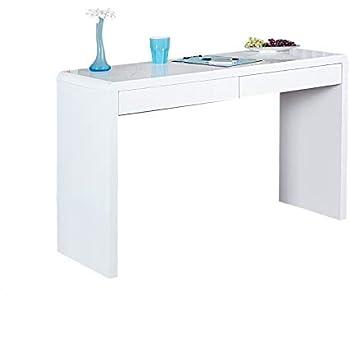 invicta interior design schreibtisch sensation hochglanz wei 120cm 2 schubladen b rotisch tisch