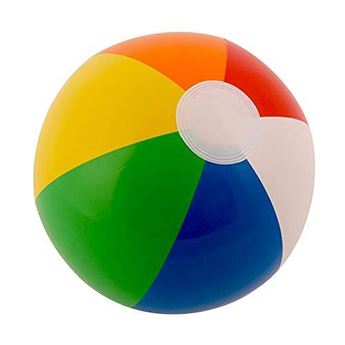 AimdonR 12pcs Rainbow Beach Balls Aufblasbare Beach Balls Baby Pool Spielzeug (Rainbow Beach Ball)