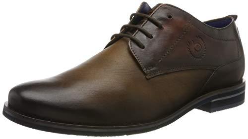 Bugatti 312598024141, Zapatos de Cordones Derby para Hombre, Marrón Dark Brown/Brown 6160, 45 EU