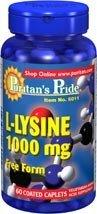 L-lysine 1000 mg 60 Comprimes