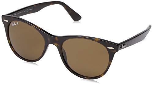 Ray-Ban Unisex-Erwachsene 0RB2185 Sonnenbrille, Braun (Striped Havana), 52.0