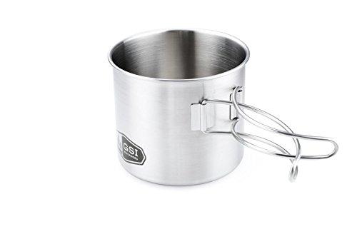 GSI Outdoors - Edelstahlbecher mit Klappgriff 500 ml (mit Wunschgravur, 500ml)