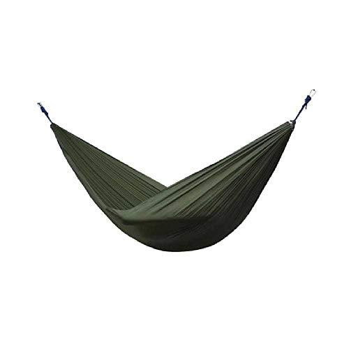 DARLING Tragbare Hängematte 2 Person Outdoor Camping Survival Hammack Garden Swing Jagd Hängende Schlafstuhl Reise Fallschirm Hängematten Die Armee grün - Hängenden Arm-unterstützung