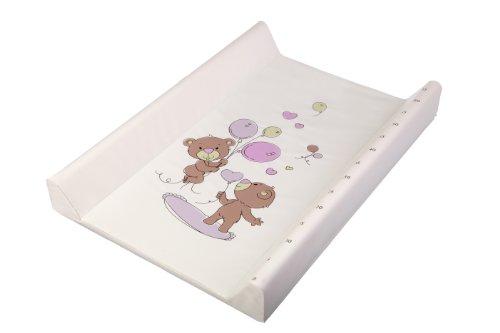 Wickelauflage - Wickelplatte - Wickelbrett - Wickeltischaufsatz - mit Aufdruck und dem Ausmaß des Wachstums! Teddy Bears / Bären, PVC, 70x50 cm