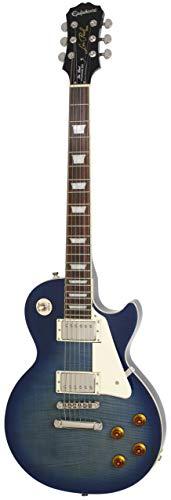 Epiphone Les Paul Standard Plus-Top Pro E-Gitarre mit Coil-Schaltung (Transparenter blauer Lack, Palisander Griffbrett, Mahagoni Korpus und Hals, ProBucker Pickups) - E-gitarre Les Paul