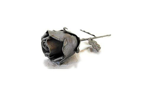 ♥ Eisen Schmiede ewige Rose Grau - Handgemacht - Ideal als Geschenk zum Muttertag, Valentinstag, für die Geliebte, Geburstag, Weihnachten und als Innen-oder Aussendekoration by Forging Art Bcn