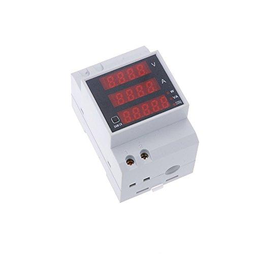El carril DIN Tensión Corriente Potencia amperímetro puede medir el voltaje de corriente alterna y corriente, y calcular la potencia activa, potencia reactiva y factor de potencia al mismo tiempo. Funciona, llevando el cable a través del agujero, en ...