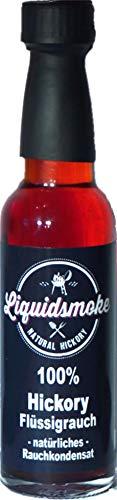 Liquid Smoke Hickory - Fluessigrauch pur - 100ml Vegan- ohne Zusatzstoffe