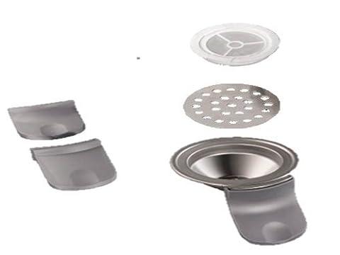 Chocomel Hot Kapselhalter / Padhalter für Senseo normal: HD7800, HD7810, HD7811, HD7812, HD7840 + Kaffeepulvereinsatz+ Teebeutel-Teepad Edelstahleinsatz von James