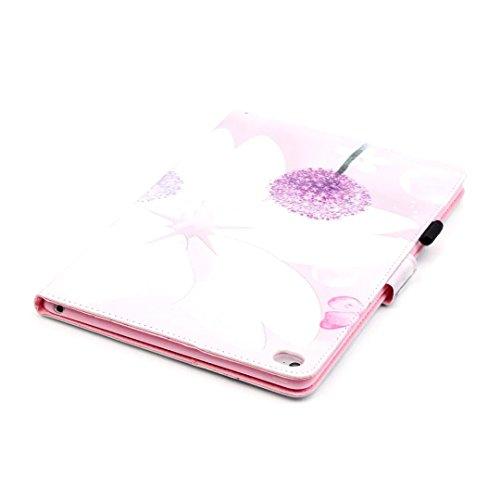 Vandot Etui IPad Air 2(iPad 6) Tablette Coque IPad Air 2(iPad 6) Ultra Slim Léger Smart Cover IPad Air 2(iPad 6) Cuir Case avec Support et fermeture magnétique et Carte Slots Housse Etui PU Cuir Flip  Tablet-d-1