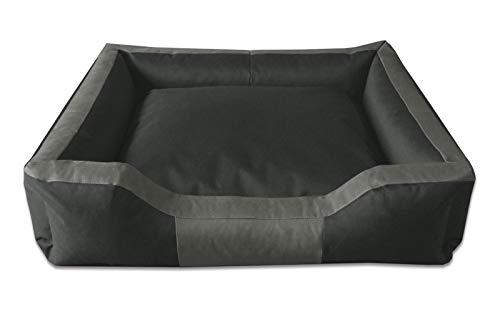 Beddog letto per cane bruno xl fino a xxxl, 17 colori a scelta, cuscino per cane, divano per cane, cestino per cane, antracite/grigio xxl
